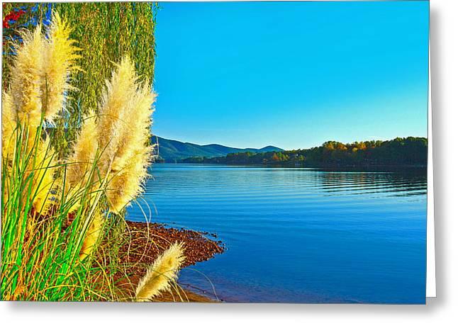 Ravenna Grass Smith Mountain Lake Greeting Card