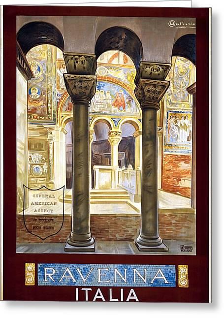 Ravenna, Travel Poster 1925 Greeting Card