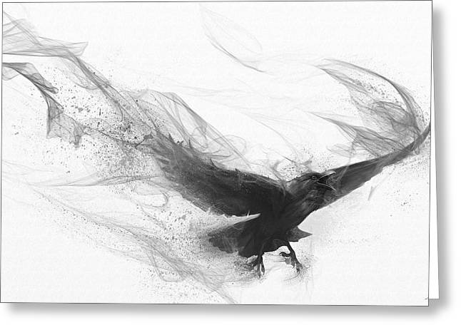 Raven's Flight Greeting Card