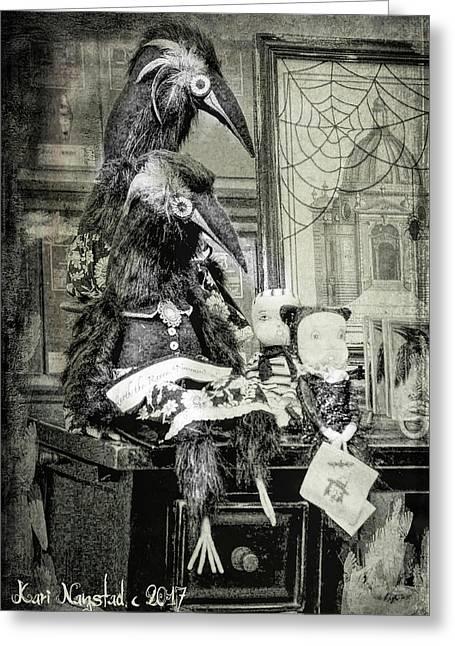 Ravens For Halloween Greeting Card
