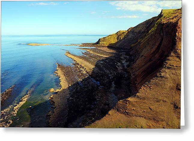 Ravenscar Cliffs Greeting Card by Svetlana Sewell