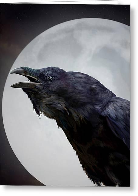Ravensong Greeting Card