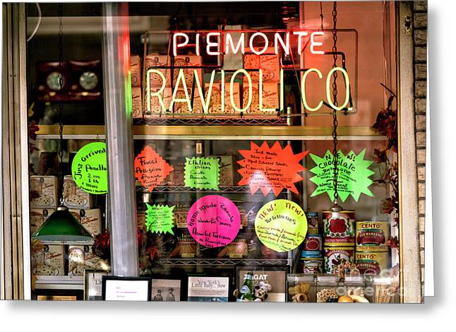 Greeting Card featuring the photograph Ravioli In The Window by John Rizzuto