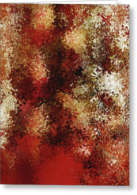 Raw Passion Abstract Greeting Card