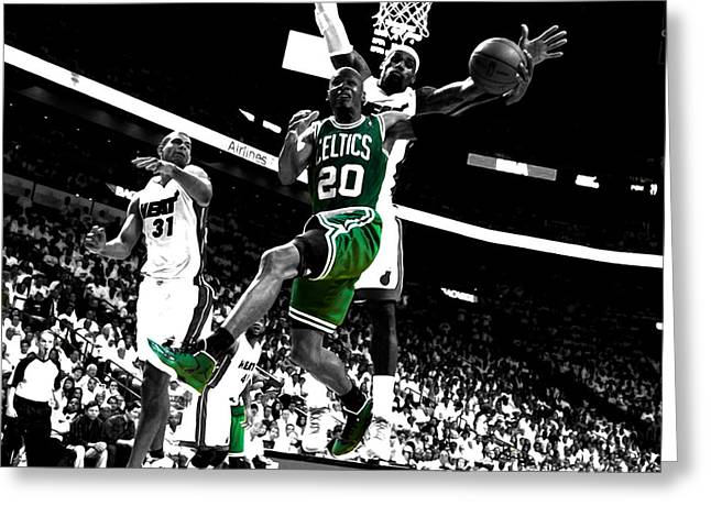 Ray Allen 2c Greeting Card by Brian Reaves