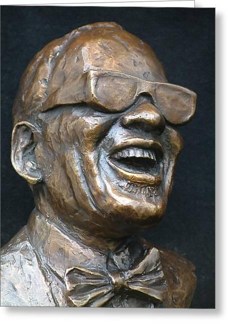 Ray Charles - Award Greeting Card by Wayne Headley