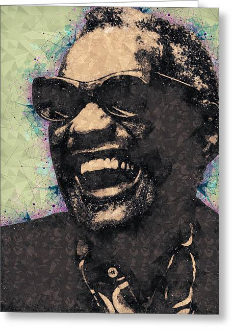 Ray Charles Portrait Greeting Card