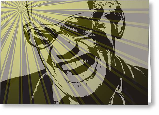 Ray Charles Poster Greeting Card by Dan Sproul