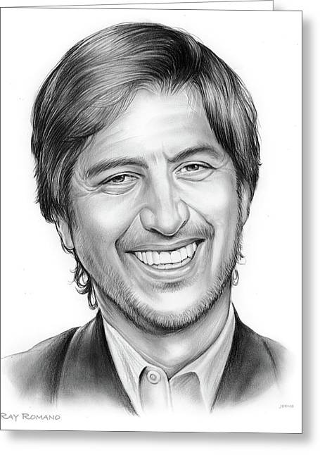 Ray Romano Greeting Card by Greg Joens