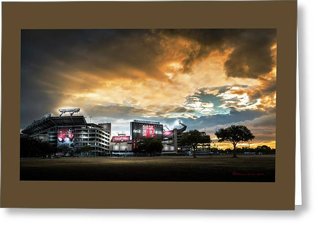 Raymond James Stadium Greeting Card by Marvin Spates