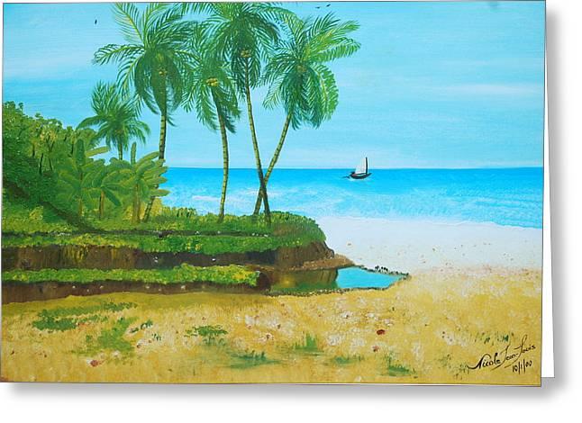 Raymond Les Bains Jacmel Haiti Greeting Card