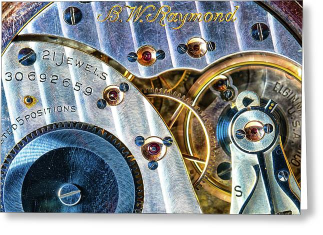 Raymond's Watch Greeting Card by Darren White