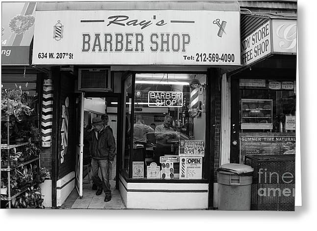 Ray's Barbershop Greeting Card