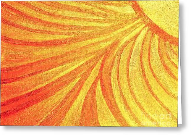 Rays Of Healing Light Greeting Card by Rachel Hannah