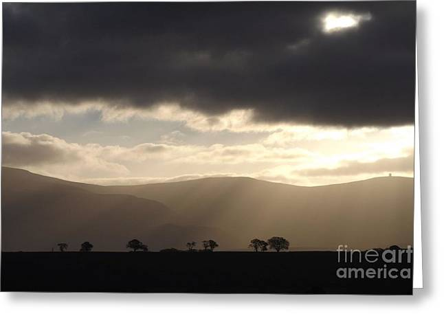 Rays Of Hope Greeting Card by Justin Farrimond