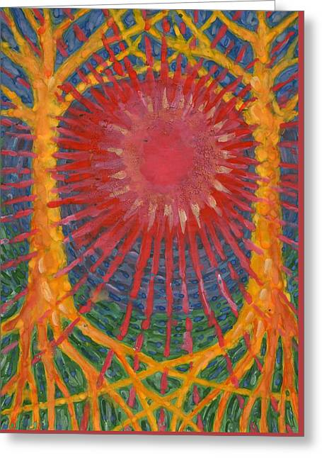 Rays Of Life Greeting Card by Wojtek Kowalski