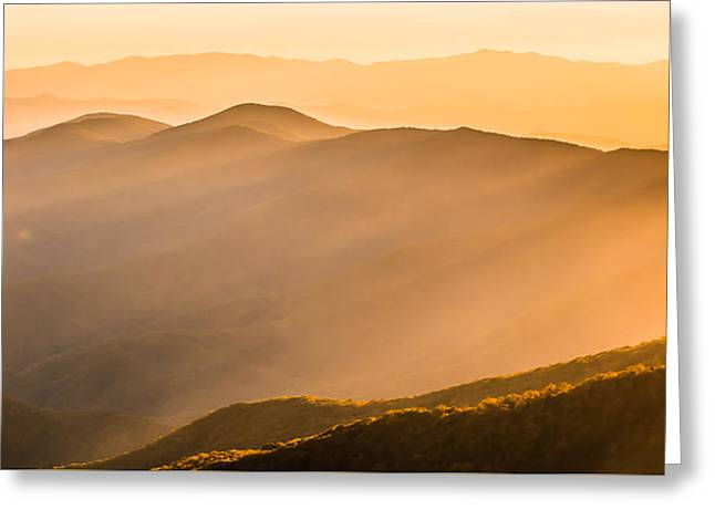 Rays Of Light Greeting Card by Shelby Young