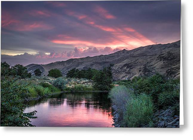 Rays Of Sunset Greeting Card by Brad Stinson