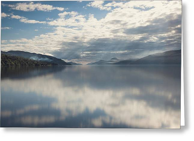 Sun Rays On Loch Ness Greeting Card