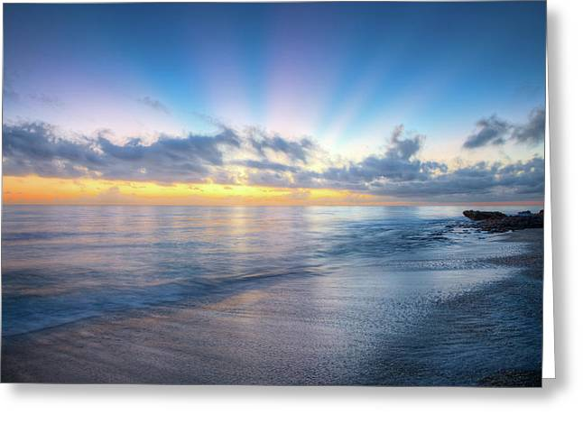 Greeting Card featuring the photograph Rays Over The Reef by Debra and Dave Vanderlaan
