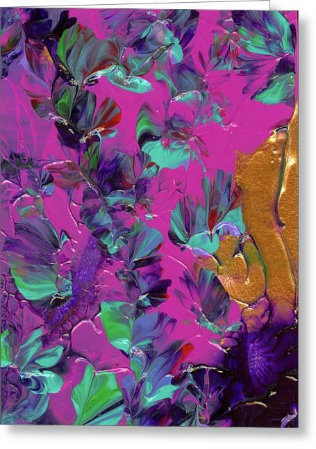 Razberry Ocean Of Butterflies Greeting Card