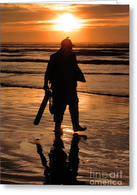 Razor Clam Hunter Greeting Card
