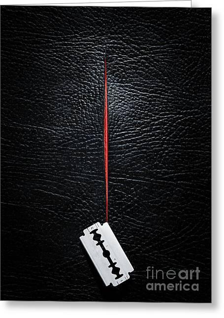 Razor Cut Greeting Card by Carlos Caetano