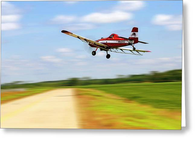 Razorback Flyby - Crop Duster - Ag Pilot Greeting Card by Jason Politte