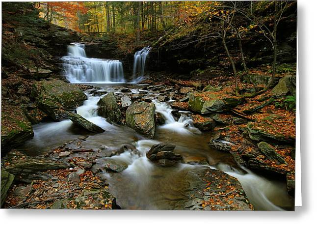 R.b. Ricketts Falls In Autumn Greeting Card