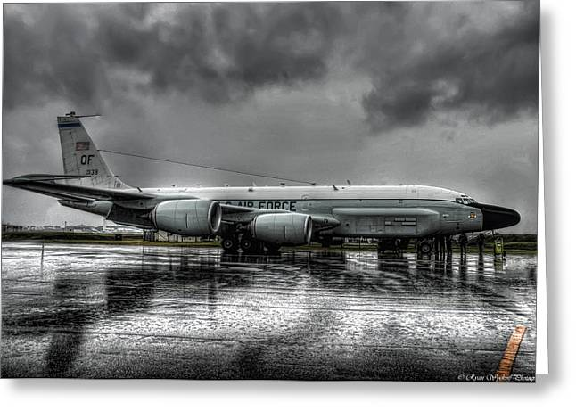 Military Aircraft Greeting Cards - Rc-135vw Greeting Card by Ryan Wyckoff