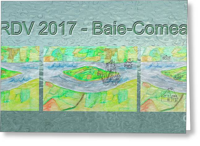 Rdv 2017 Baie-comeau Mug Shot Greeting Card by Dominique Fortier