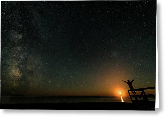 Greeting Card featuring the photograph Reach For The Stars by Doug Gibbons