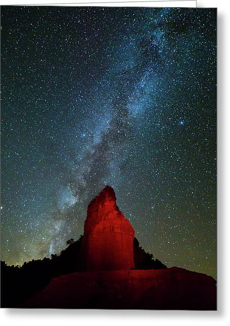 Greeting Card featuring the photograph Reach For The Stars by Stephen Stookey