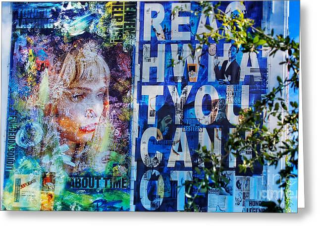 Reach What You Can Not Greeting Card by Dieter Lesche