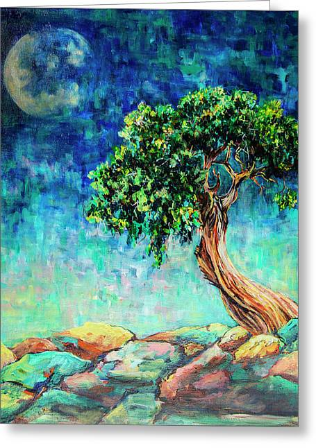 Reaching For The Moon #1 Greeting Card