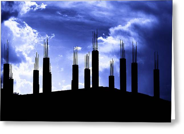Pillars In The Sky Greeting Card