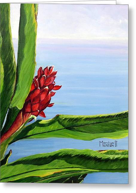 Reaching Out Greeting Card by Marilyn McNish