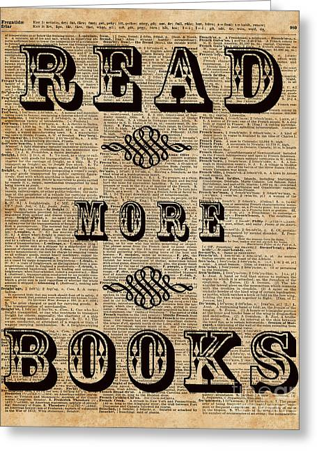 Read More Book Illustration Dictionary Art Library Home Decor Greeting Card by Jacob Kuch