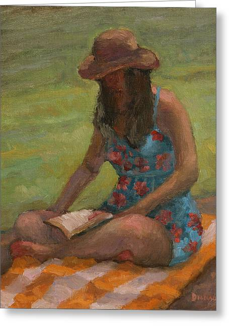 Reading At Jersey Valley Greeting Card
