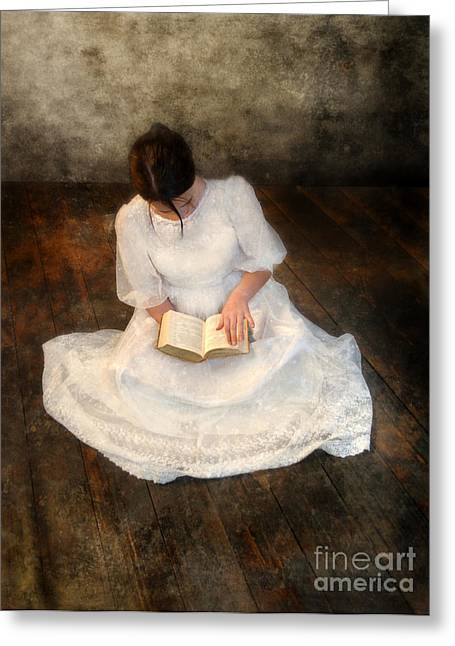 Reading  Greeting Card by Jill Battaglia
