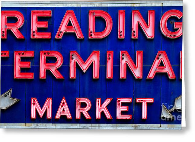 Reading Terminal Market Greeting Card by Olivier Le Queinec