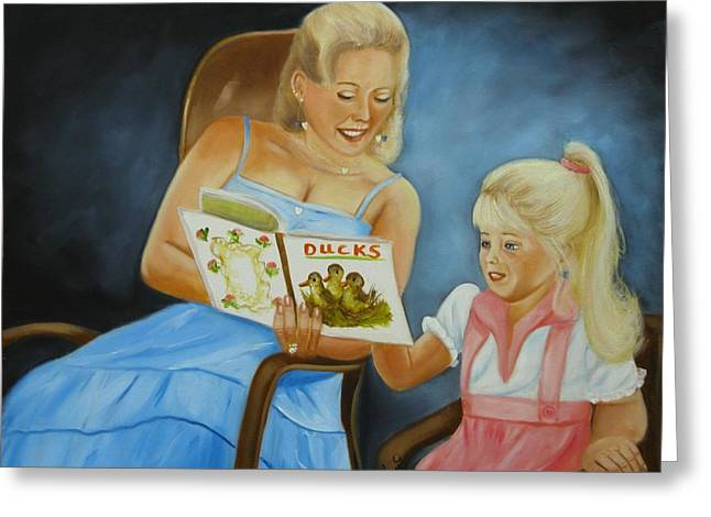 Reading With Gramma Greeting Card by Joni McPherson