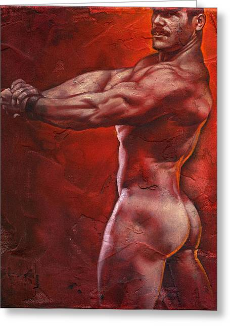 Muscular Greeting Cards - Ready Greeting Card by Chris  Lopez