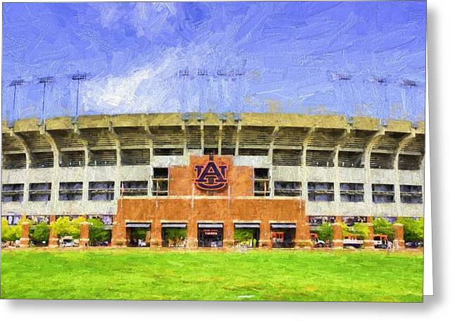 Ready For Gameday At Jordan Hare Greeting Card by JC Findley