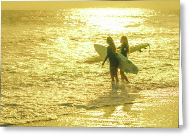 Ready Surfing Watercolor Greeting Card