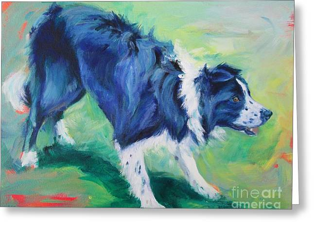 Ready To Fly - Border Collie Greeting Card