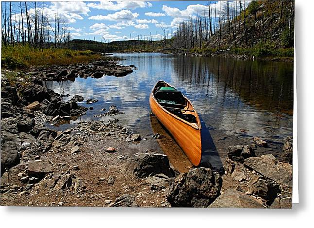 Ready To Paddle Greeting Card by Larry Ricker