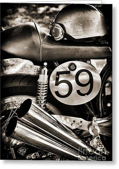 Ready To Race Greeting Card by Tim Gainey