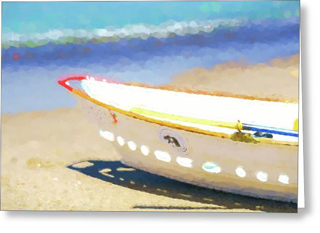 Ready To Rescue  Lifeboat Watercolor Greeting Card