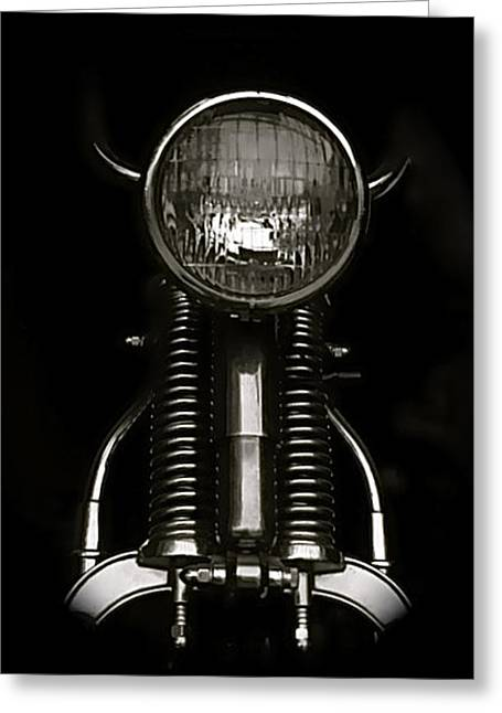 Ready To Ride Greeting Card by James Eugene  Moore